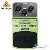 【經典電子管音色超載效果器】【Behringer TO800】 【VINTAGE TUBE OVERDRIVE】【可用9伏電池】