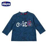 chicco-TO BE Baby-花紗藍宇宙長袖上衣