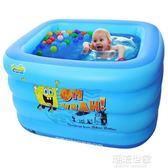 諾澳大號新生嬰兒游泳池保溫加厚兒童充氣泳池游泳桶海綿寶寶浴缸igo『潮流世家』