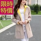 毛呢外套-防風羊毛典型休閒女大衣61n24[巴黎精品]