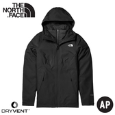 【The North Face 女 DV防水化纖保暖兩件式外套(可套式)《黑》】4NFB/衝鋒衣/防水外套/風雨衣