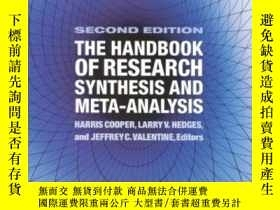 二手書博民逛書店The罕見Handbook Of Research Synthesis And Meta-analysisY3