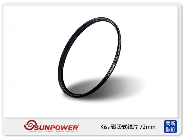 SUNPOWER KISS 磁吸式鏡片 (UV+CPL)套組 (72mm)