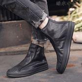 高幫皮鞋男士馬丁短靴子