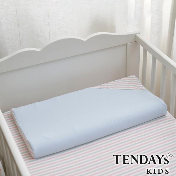 TENDAYs 有機棉可水洗透氣嬰兒枕(和風藍 0-4歲 可水洗記憶枕)