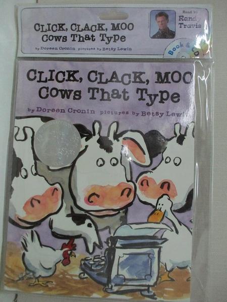 【書寶二手書T1/少年童書_DW4】Click, Clack, Moo: Cows That Type_附光碟_Cronin