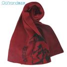 DIESEL新款時尚素面龐克頭LOGO圍巾(暗紅色)381001