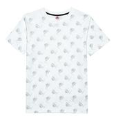 KAPPA義大利 時尚舒適型男吸濕排汗針織圓領衫 白 321876W001