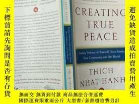 二手書博民逛書店Creating罕見True Peace: Ending Vio