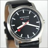【萬年鐘錶】MONDAINE 瑞士國鐵 超薄皮錶 XM-672114