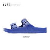 Casual 馬卡龍系列 品牌漂浮涼拖鞋-深藍【09634】