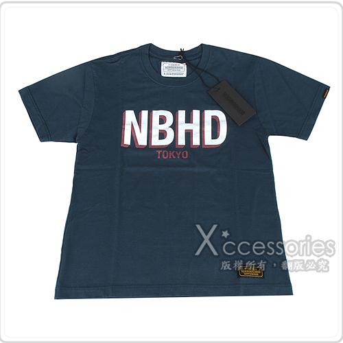 NBHD NEIGHBORHOOD 經典印刷大LOGO棉質短T(S/深藍)