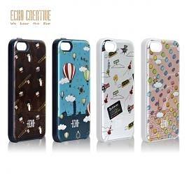 【A Shop】ECHO系列 Scudo x iPhone SE 5S/5 鋁合金保護殼/背蓋 城市旅行系列