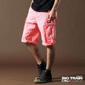 BIG TRAIN  貼袋短褲-男-粉紅-B5007010