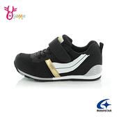 Moonstar月星童鞋 中童 男童機能鞋 矯正鞋 HI系列 運動鞋 寬楦日本機能鞋 魔鬼氈 J9675#黑色◆奧森