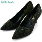 ★新品上市★【Bo Derek】歐風水鑽高跟婚鞋-墨綠
