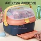 收納箱嬰兒專用瀝水架輔食儲存工具晾干架防塵寶寶餐具【聚可愛】