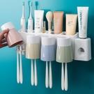 牙刷架 創意衛生間牙刷置物架牙刷架 牙刷杯牙刷收納盒套裝漱口杯壁掛式【幸福小屋】