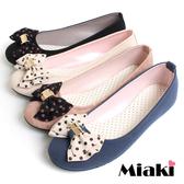 【Miaki】MIT 韓劇風圓點蝴蝶平底娃娃鞋包鞋