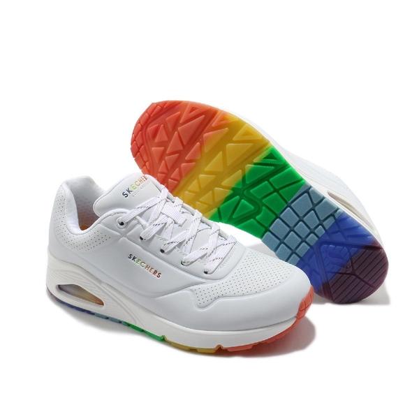 Skechers 休閒鞋 Uno-Spectrum 白 彩色 女鞋 彩虹 氣墊 增高 運動鞋 【ACS】 155133WHT