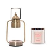 (組)EPOCHSIA x Pray守夜人金屬香氛蠟燭暖燈(S)-復古金+茉莉花