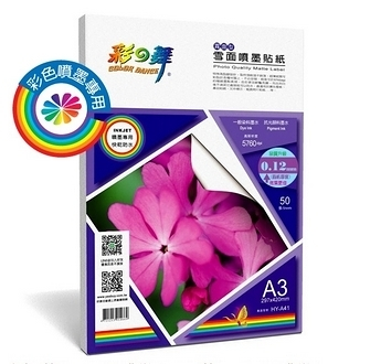 彩之舞 HY-A41 雪面噴墨貼紙-防水 0.12mm A3 Label - 50張/包