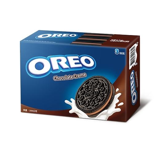 奧利奧OREO巧克力三明治餅乾-香濃可可399g【愛買】
