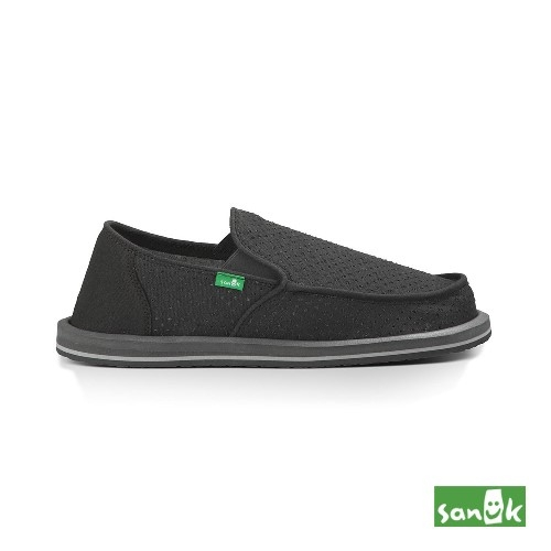 SANUK  帆布透氣懶人鞋-男款1013186 CHRC(黑色)