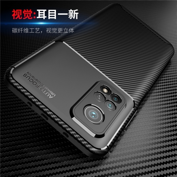 Xiaomi 小米 10T/10T Pro 甲殼蟲保護套 軟殼 碳纖維絲紋 軟硬組合 防摔全包款 矽膠套 手機套 手機殼