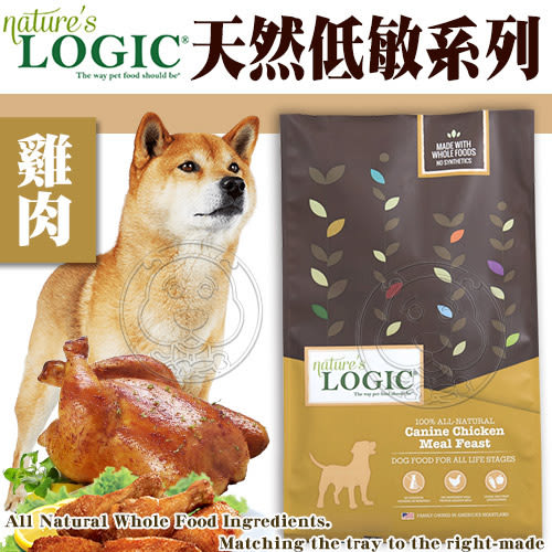 【zoo寵物商城】美國Nature自然邏輯》狗糧雞肉挑嘴狗配方1.99kg4.4磅買3包送睡墊