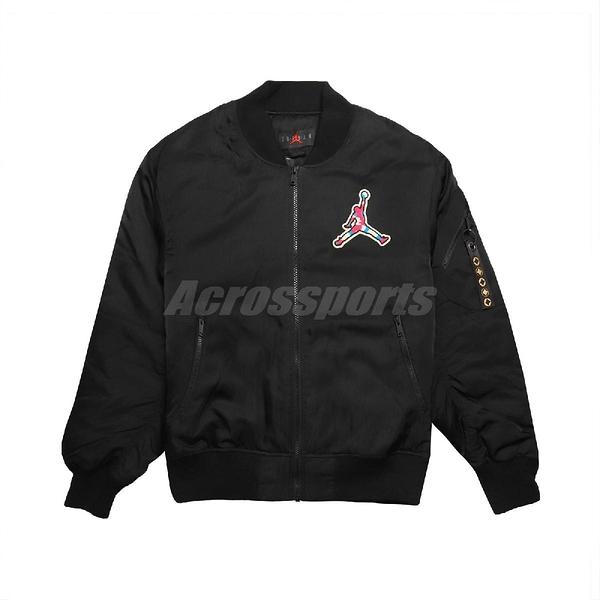 Nike 外套 Jordan CNY Jackets 黑 彩色 男款 喬丹 鋪棉外套 運動休閒 【PUMP306】 CU1700-010
