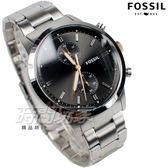FOSSIL 雙環計時碼錶 典藏腕錶 不銹鋼錶帶 男錶 中性錶 防水手錶 黑色 FS5407