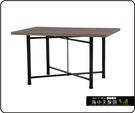{{ 海中天休閒傢俱廣場 }} C-99 摩登時尚 餐桌系列 463-34 2X3尺美耐板餐桌/烤黑低腳(顏色可挑選)