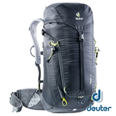 【德國 deuter】TRAIL 輕量拔熱 透氣背包 30L『黑』3440519 登山.露營.休閒.後背包.手提包.雙肩背包