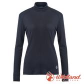 【wildland 荒野】女 Highest彈性立領保暖衣『黑色』H2661 戶外 休閒 運動 冬季 保暖 禦寒 內著