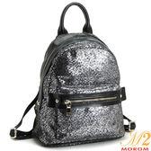 後背包-MOROM.真皮韓式shining後背包(黑色)A010