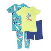 【北投之家】男寶寶睡衣四件組 短袖上衣+短褲+睡褲 綠色 | Carter s卡特童裝 (嬰幼兒/小孩/baby)
