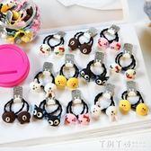 兒童髮飾 兒童發飾韓國女童扎頭皮筋可愛萌卡通竹節發繩瓶裝寶寶發圈不纏發