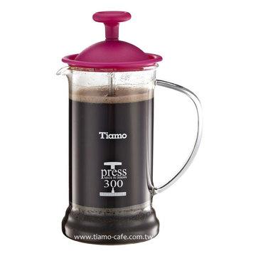 金時代書香咖啡   TIAMO 多功能法式玻璃濾壓壺 300cc SGS合格  HG2109PK