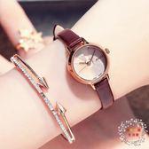 流行女錶新款女手錶小巧時尚淑女時裝錶防水皮質帶學生獨特懸浮女錶 XW全館免運