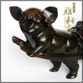[超豐國際]V木雕豬 紅木雕工藝品擺件 生日禮物情侶豬 121入