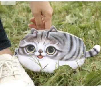 預購-錢包 3d印花零錢包 貓咪收納袋