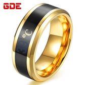 創意數字溫度智慧戒指日韓時尚潮男士?鋼食指指環個性學生飾品