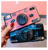 三星Galaxy S8 Plus 全包手機殼 藍光手機套 復古相機保護殼 氣囊支架 防摔保護套 矽膠軟殼 情侶軟殼