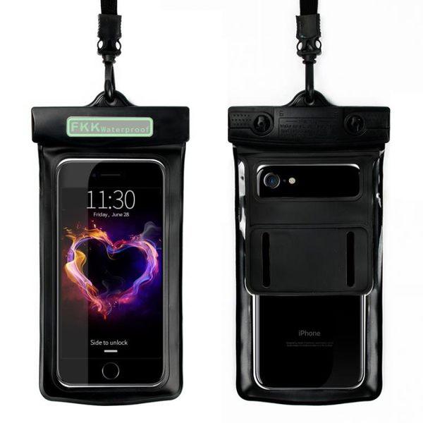 手機防水袋密封5.5寸通用vivoy67華為P9觸屏潛水套6寸內 【創時代3C館】