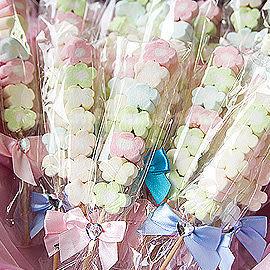 婚禮小物 小花棉花糖-送客禮/姊妹禮/伴娘禮/活動禮/送客禮/批發 幸福朵朵