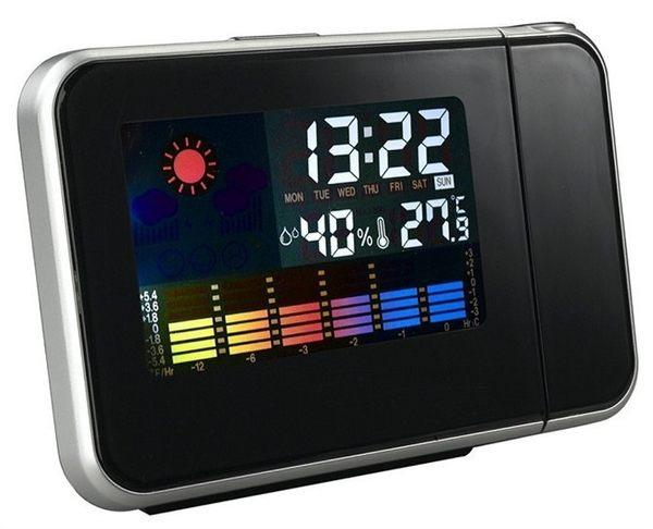 天氣預報投影電子時鐘錶 鬧鐘創意個性時尚夜光臥室床頭座鐘【慶新年全館免運】