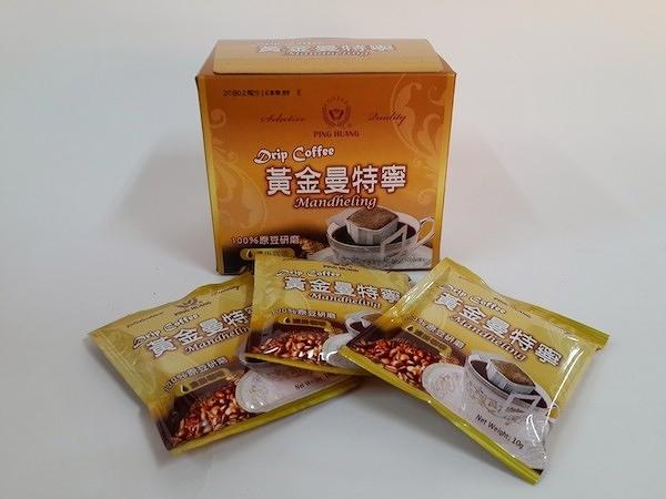 品皇『掛耳式咖啡』-黃金曼特寧 10g*10袋/盒