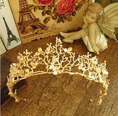 高端巴洛克壓金色蜻蜓頭飾樹枝發飾水?大皇冠婚紗禮服配飾品 全館免運折上折