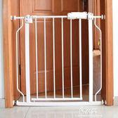 門口攔防 兒童安全門欄嬰兒寶寶樓梯 寵物狗狗圍欄隔離柵欄桿YYS      易家樂